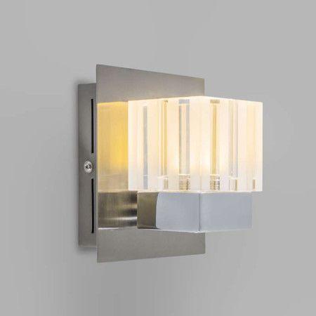 Wandleuchte Dice 1 LED Chrom