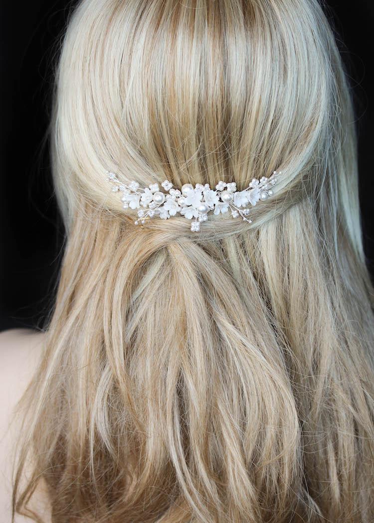 CHLOE   Floral bridal comb