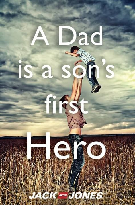 Happy Father S Day Dad Son Hero Quote Saying Celebration Inspiration Cute Father Son Quotes Son Quotes Father Son Quotes