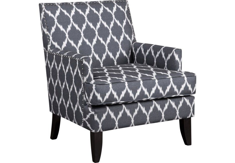 Best Aubinwood Gray Pattern Accent Chair Blue Accent Chairs 400 x 300