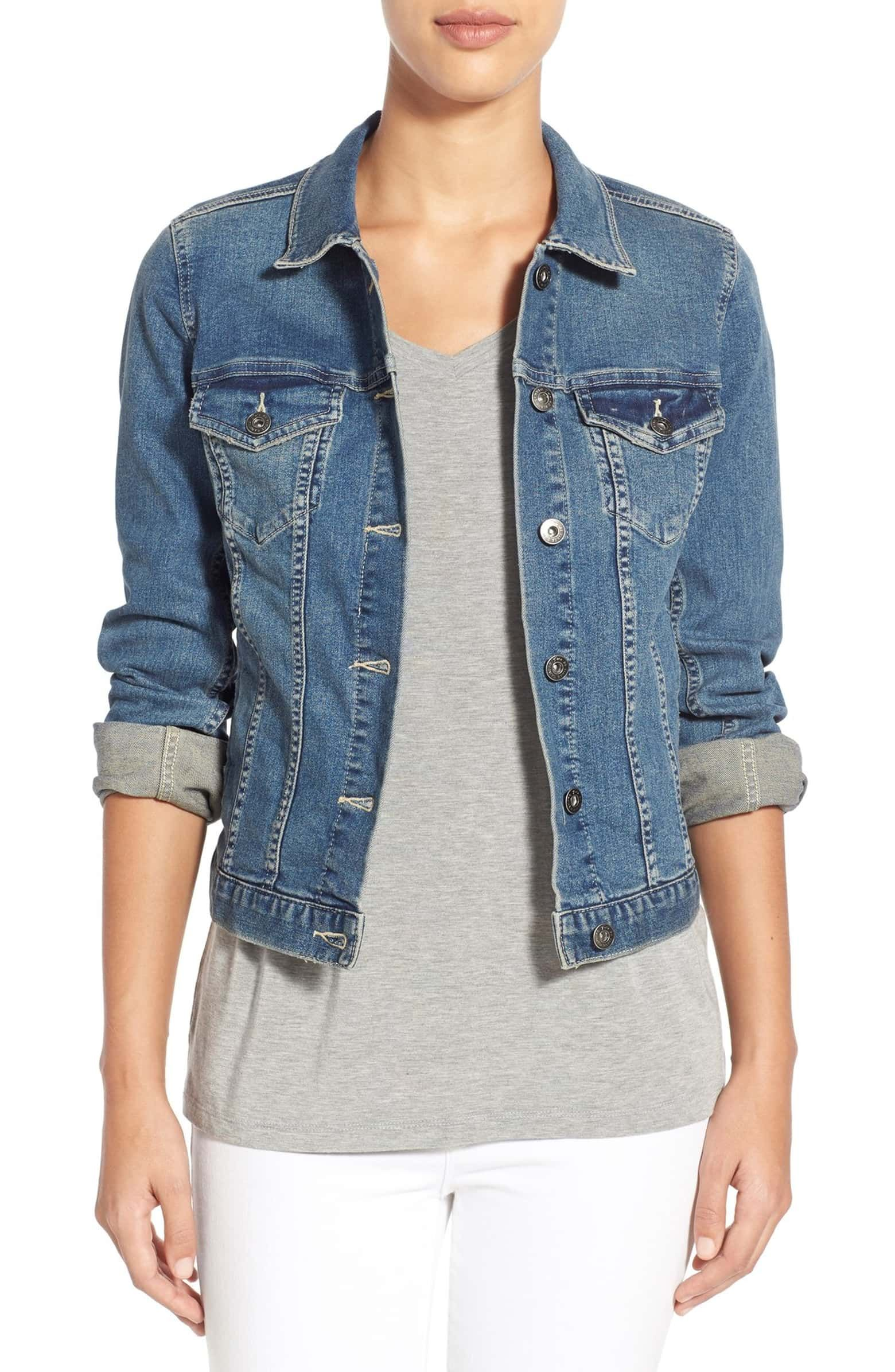 Vince Camuto Womens Jean Jacket
