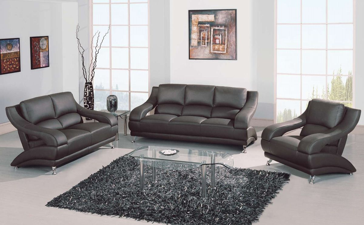 Grey Sofas Leather | Categories U003eu003e Sofas U003eu003e GL Sofa Set Gray Leather Match