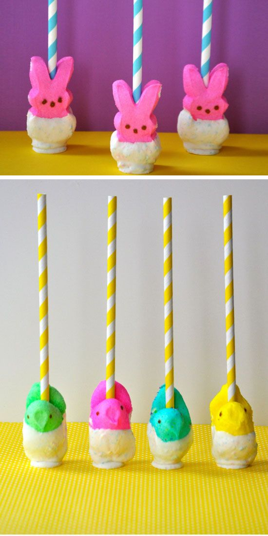 Peeps pops diy easter party favors for kids goodie bags peeps pops diy easter party favors for kids goodie bags handmade spring gifts for negle Choice Image