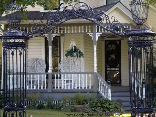 porch design with Victorian appeal