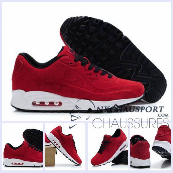official photos 7d983 04c13 90 Rouge Meilleur Air Nike Homme Running Daim Chaussures VT Max E7Hwxzwqv