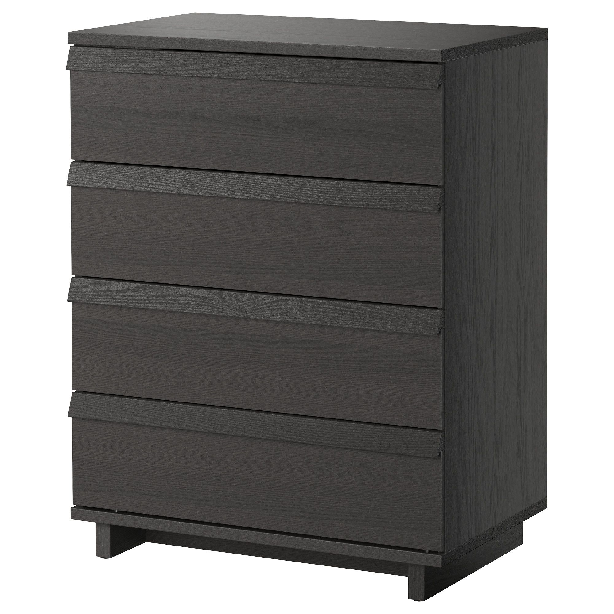 Oppland 4 Drawer Chest Brown Stained Ash Veneer Ikea Oppland Chest Of Drawers Ikea