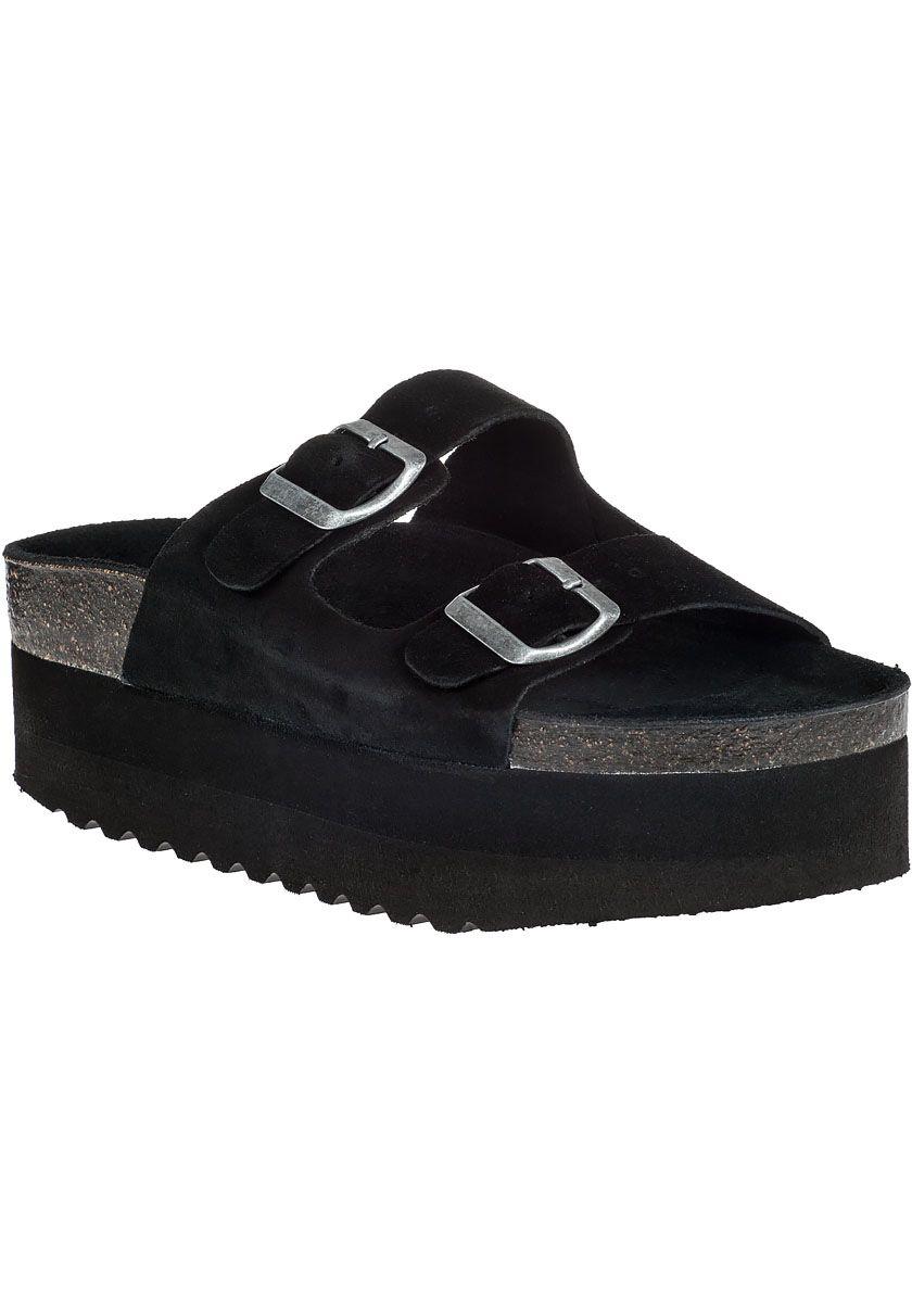 d61ab87c3e18 Jeffrey Campbell Aurelia Platform Sandal Black Suede in Black (Black Suede)