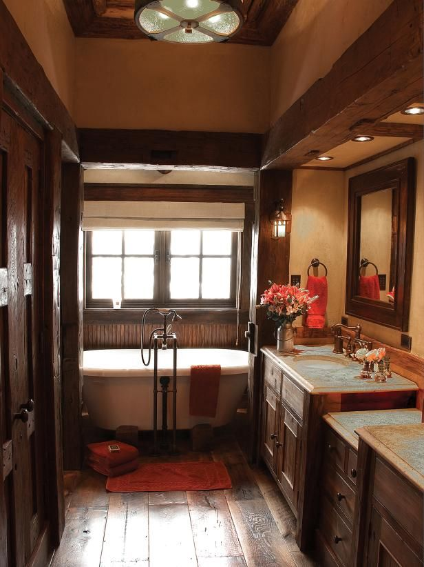 Photo Of Gather rustic bathroom decor ideas and prepare to bring the outdoors inside with a relaxed