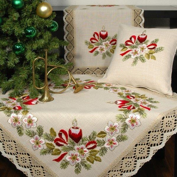 Схемы вышивки новогодних скатертей