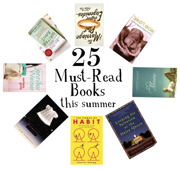 25 Book Recommendations For Summertime Reading. I need a new one!