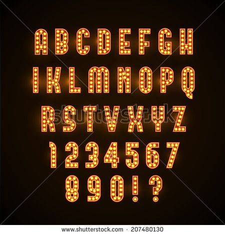 Image result for marquee letters font HC Pinterest