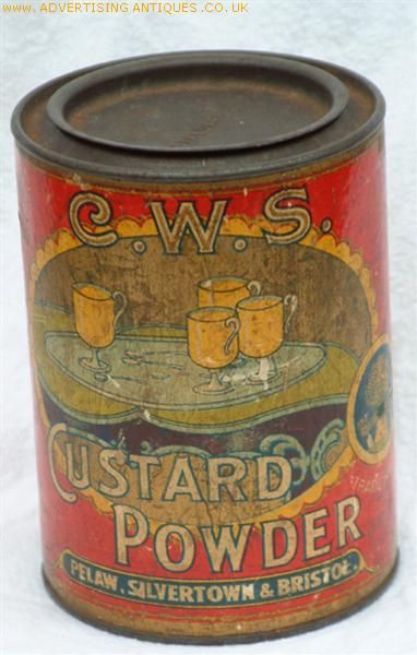 C.W.S. Custard Powder tin