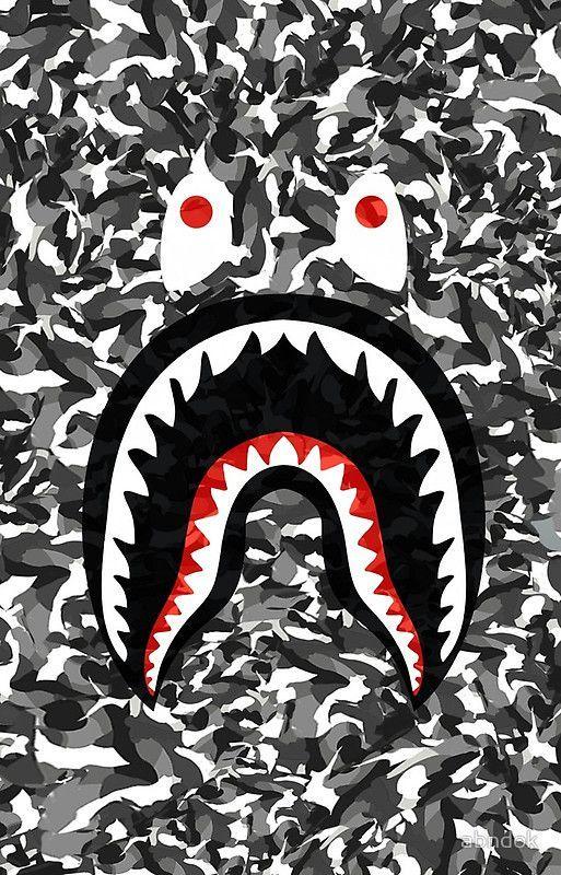 Supreme wallpaper 71 wallpapers 3d wallpapers bape shark in 2019 bape wallpapers bape - Camo shark wallpaper ...