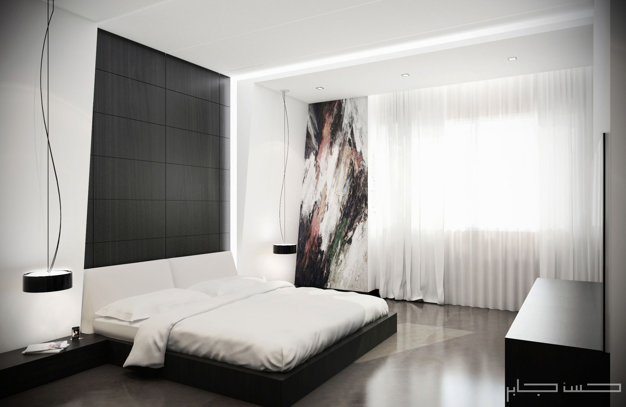 white modern bedroom. fashionable a bedroom done together with cgarchitect professional  White BedroomsModern