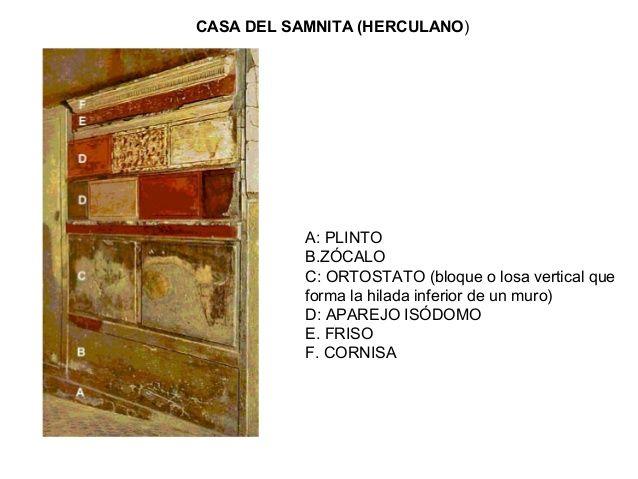 Casa Samnitica de Herculano Pintura romana estilo I