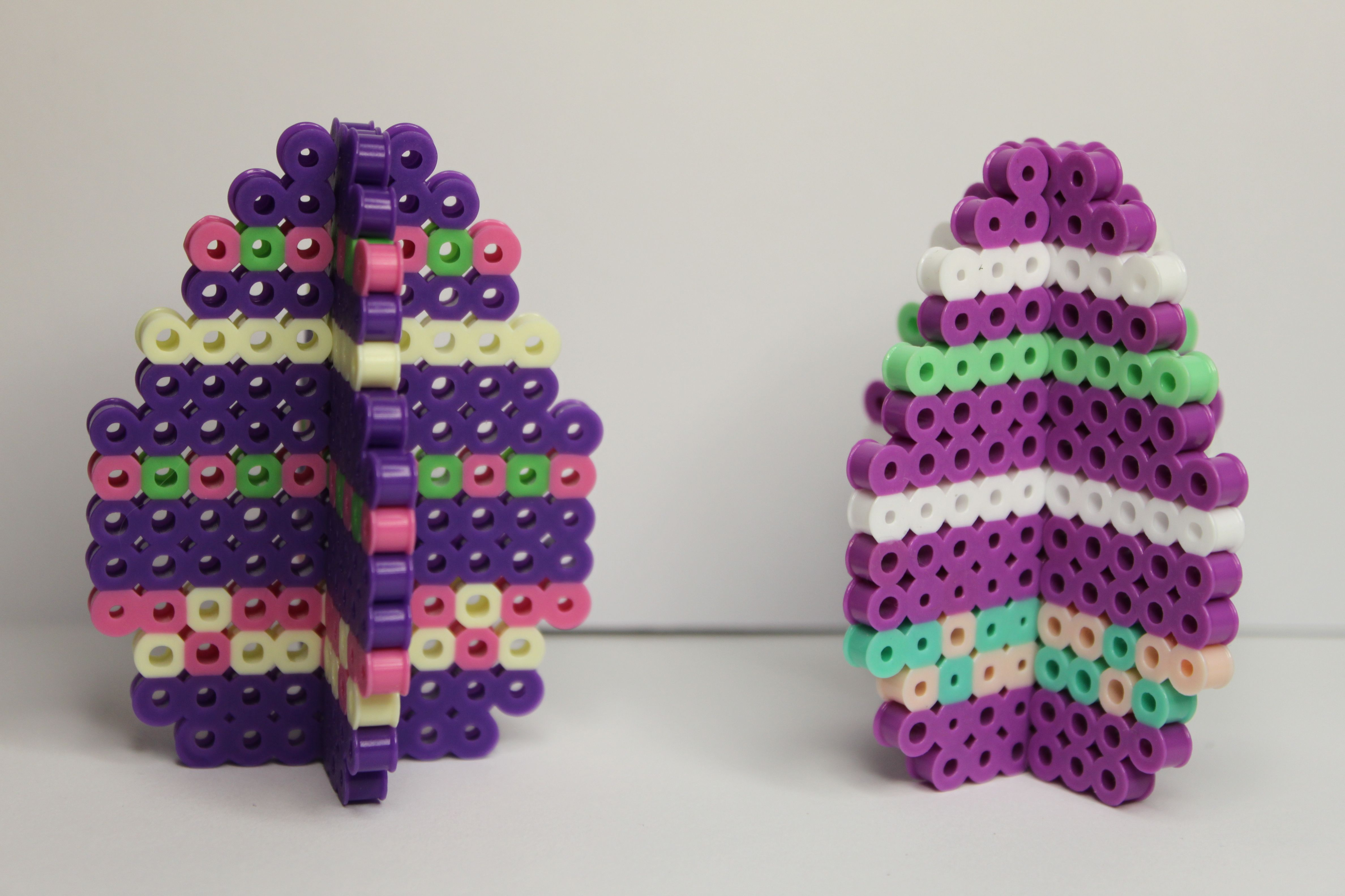 Perler beads 3D Easter eggs | Pixel bead creations by ...