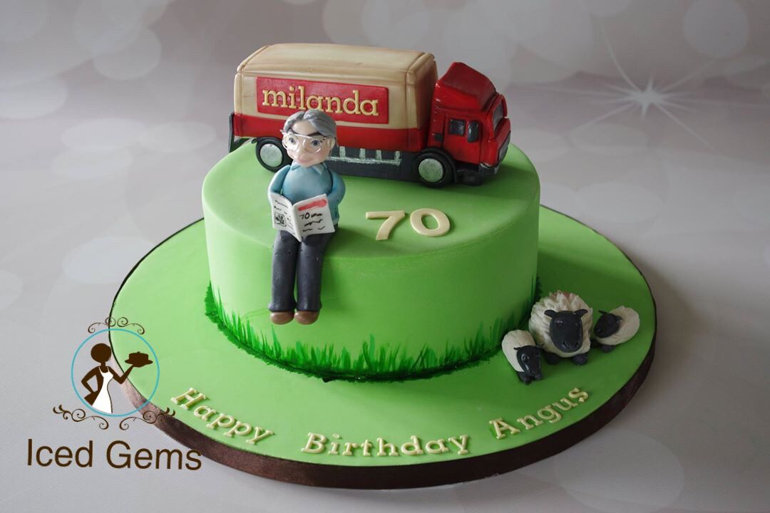 Lorrycake Fondant Lorry Topper With Fondant Man And Sheep