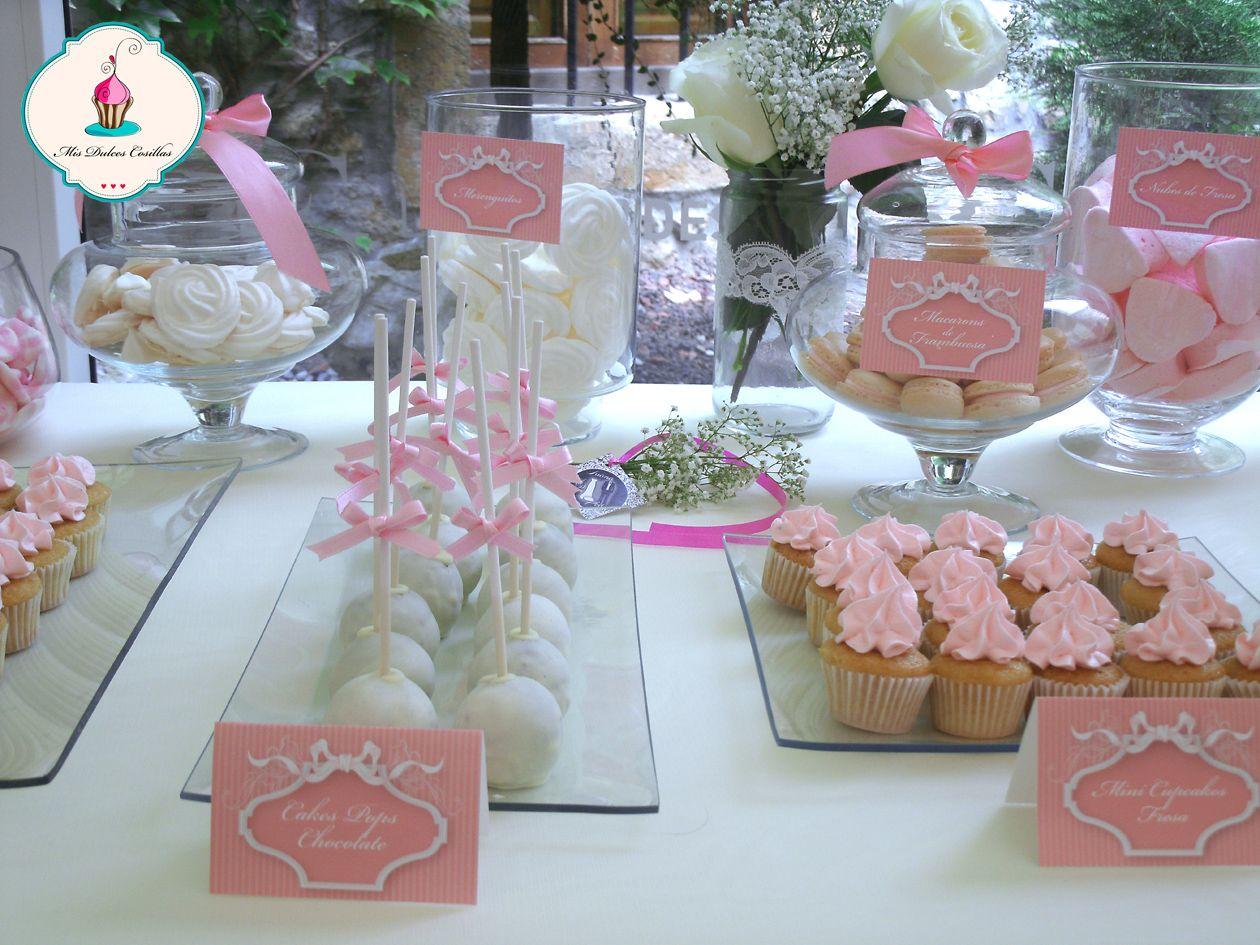 Mesa dulce para boda mini cupcakes pops cakes - Mesa de dulces para boda ...