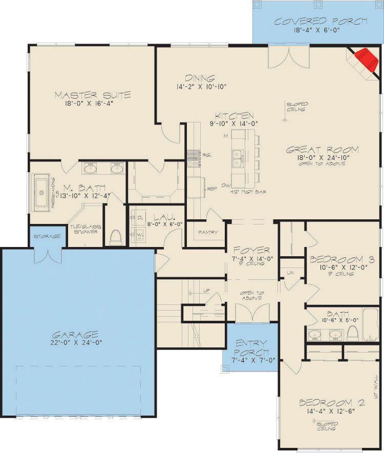 Plan 70522MK: 3 Bed Modern with Upstairs Sleeping Loft ...