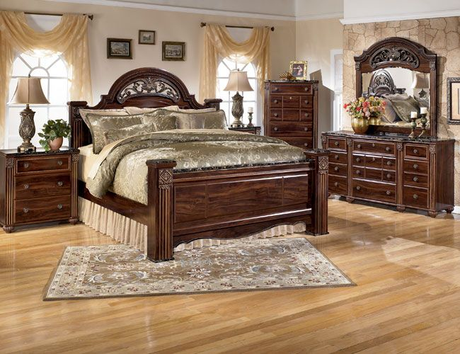 Gabriela Poster Bedroom Set Storage Furniture Royal