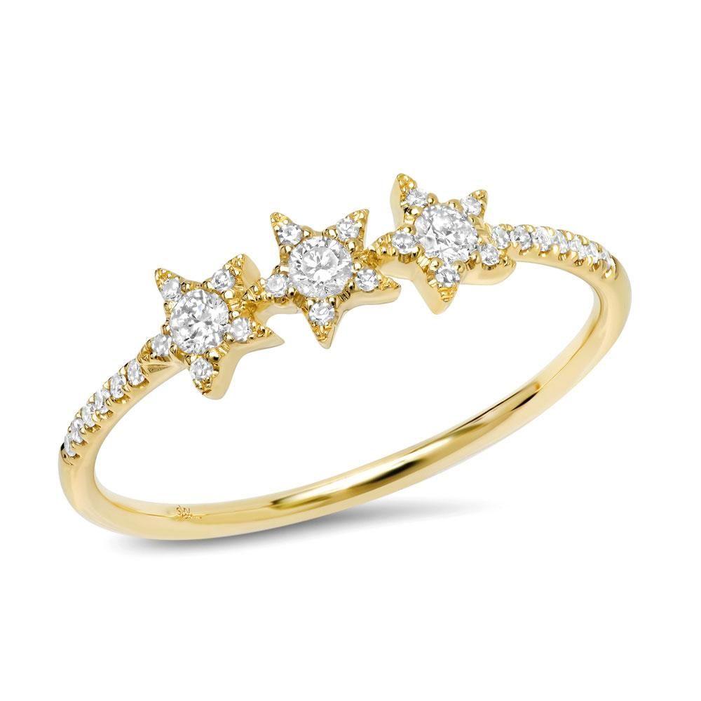 6554573796858e Triple Star Ring in 2019 | a c c e s s o r i z e | Star ring, Rings ...