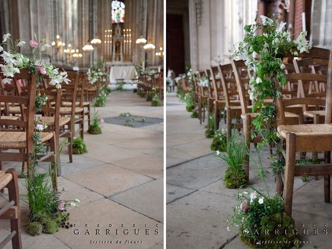 decoration mariage champetre eglise