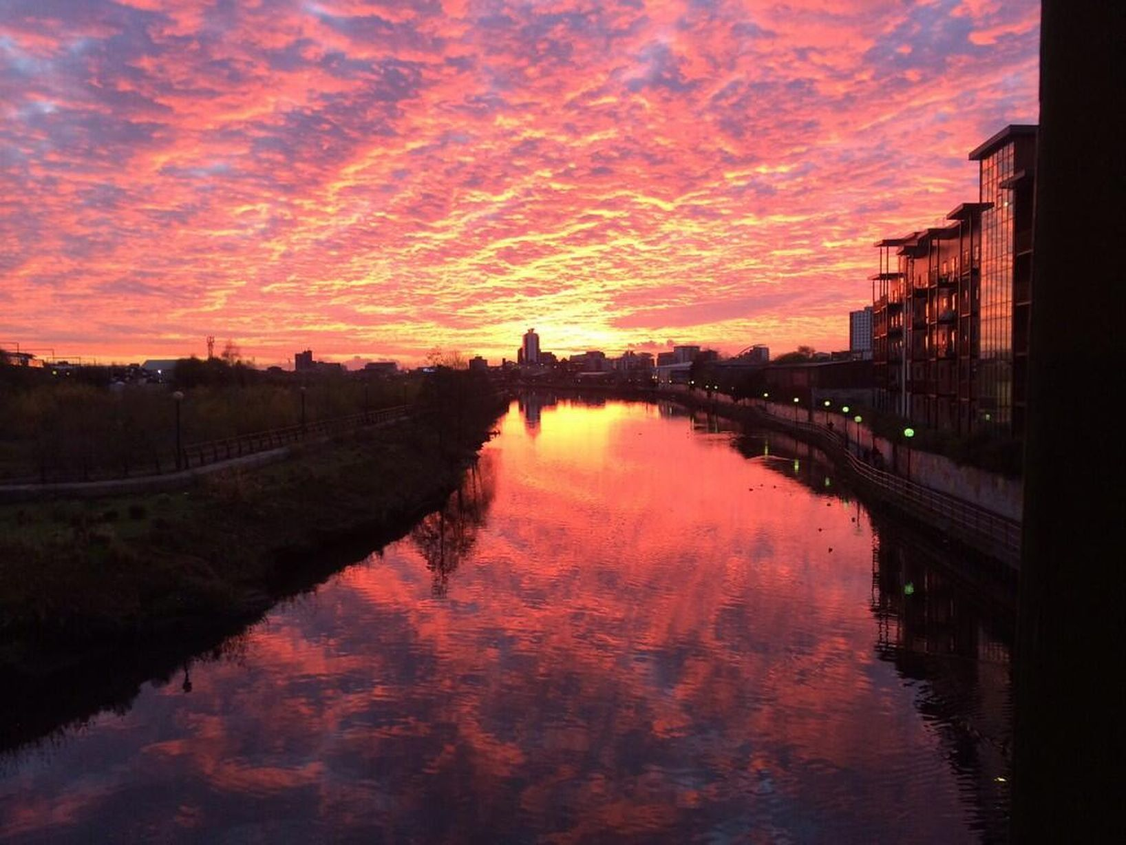 beautiful manchester sunset - Google Search