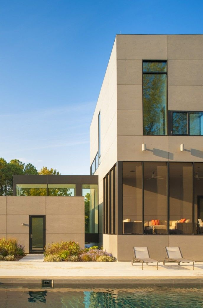 Architecture:House With Glass Corridors And Picturesque View Nearby The River, In Maryland, USA View House In Maryland House With Glass Corridors And Picturesque View Nearby The River, In Maryland, USA Architecture Contemporary House House Nearby The River