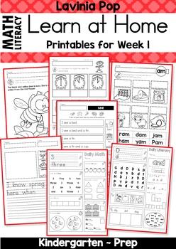 FREE Kindergarten Learn at Home Week 1 in 2020