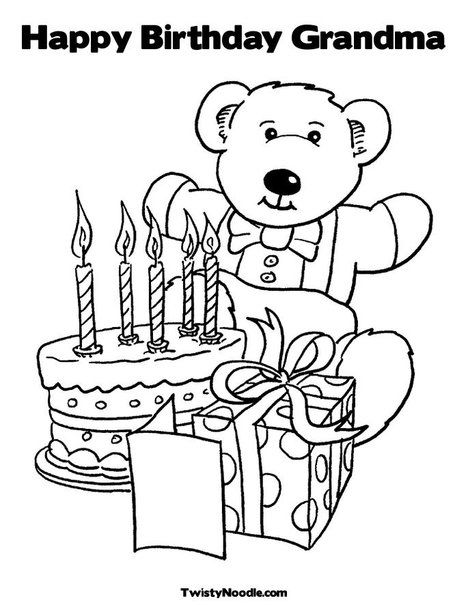 Birthday Grandma Coloring Page Print This Your