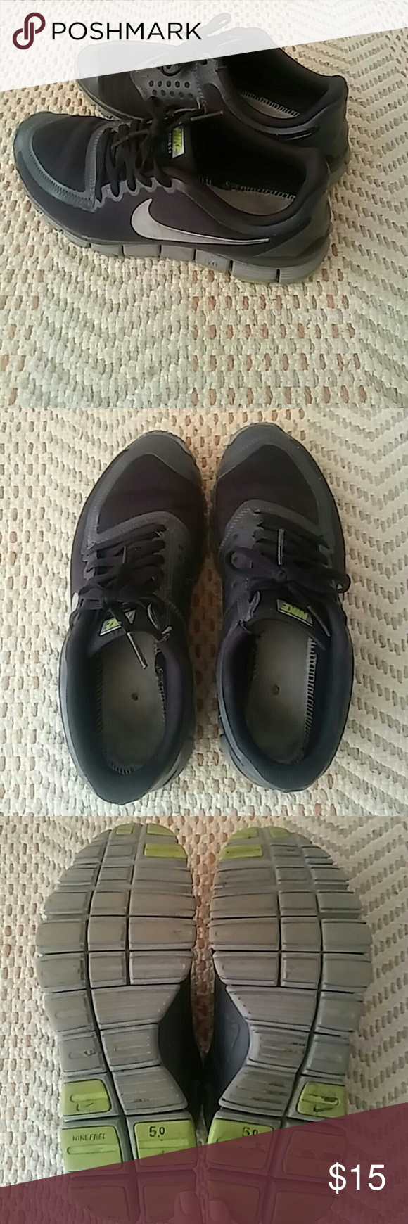 hot sale online 81034 eb244 Black Nike free run 5.0 All black Nike free run 5.0 Size 6 No insoles and  no box. Very good used condition. Slight scuffing on toes and edges (shown  in last ...