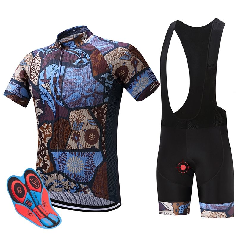 2017 New SUREA Cycling Jersey Set Short Sleeve Bike Bicycle Sportswear Ropa  Ciclismo Outdoor Breathable Cycling 52b3c68b5