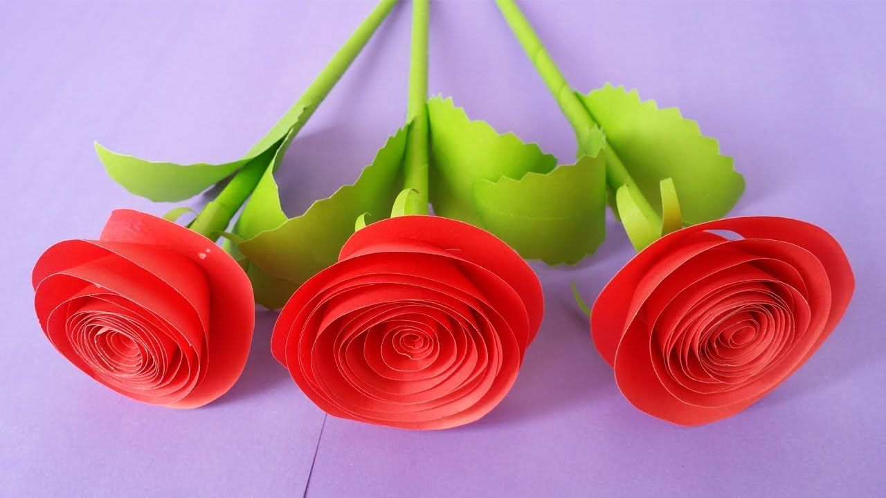 How To Make Rose Flower With Colour Paper Za Radionicu