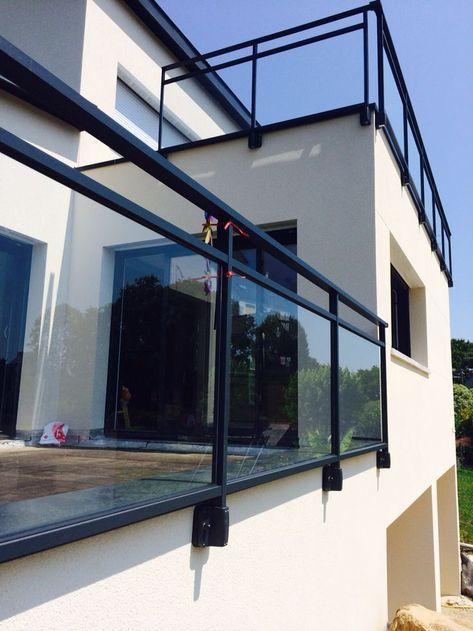 garde corps terrasse mur + rambarde - Recherche Google projects - terrassen gelander design