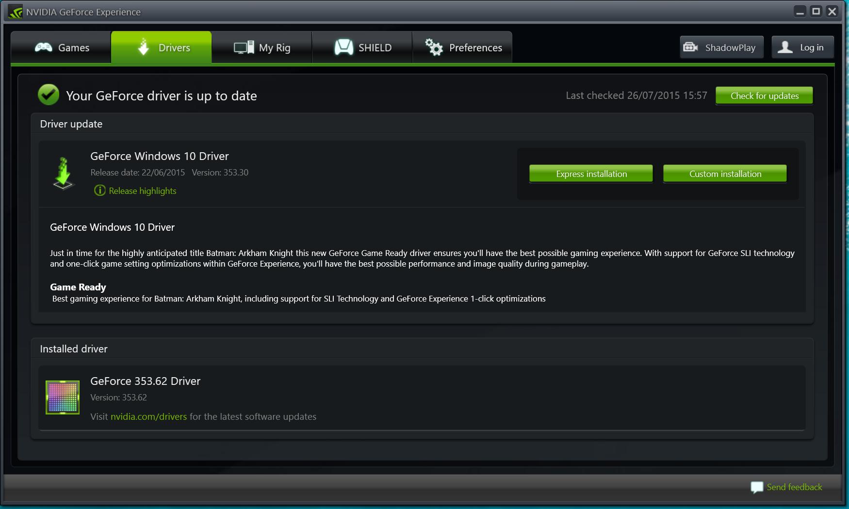 Nvidia драйвер скачать Windows 7