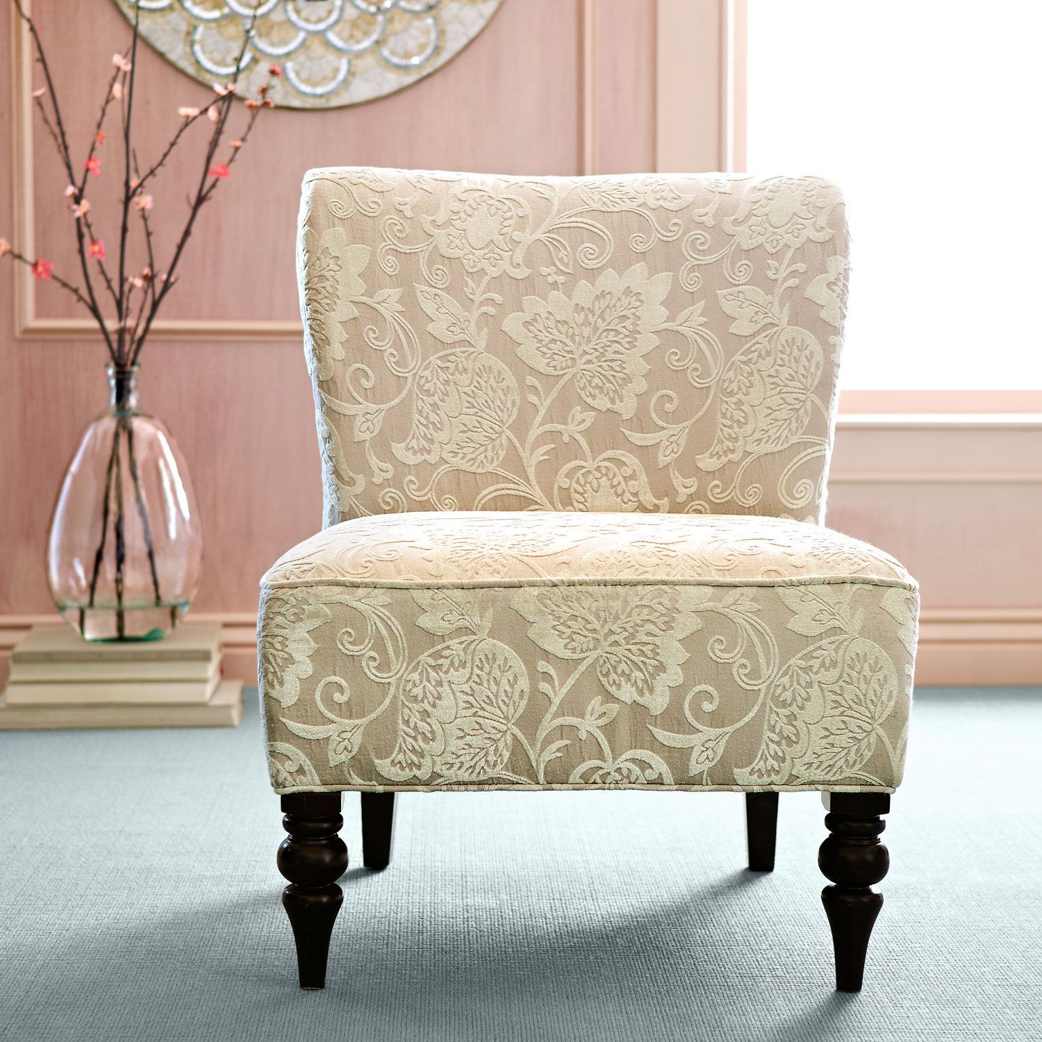 Beau Addyson Chair   Ivory Leaves | Pier 1 Imports