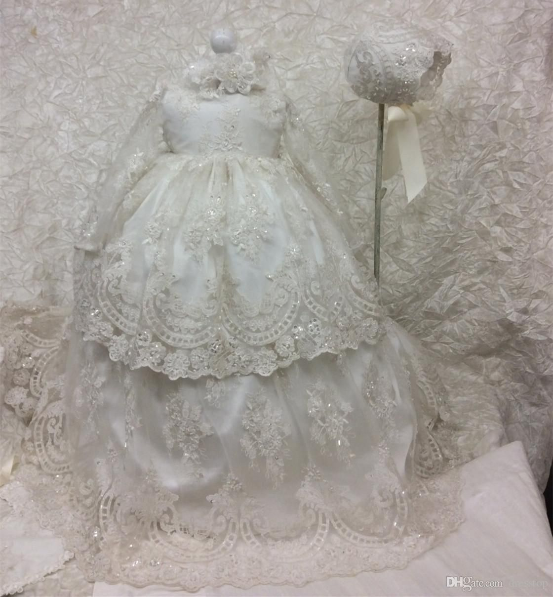 Best cheap long christening dresses for baby girl with long sleeves