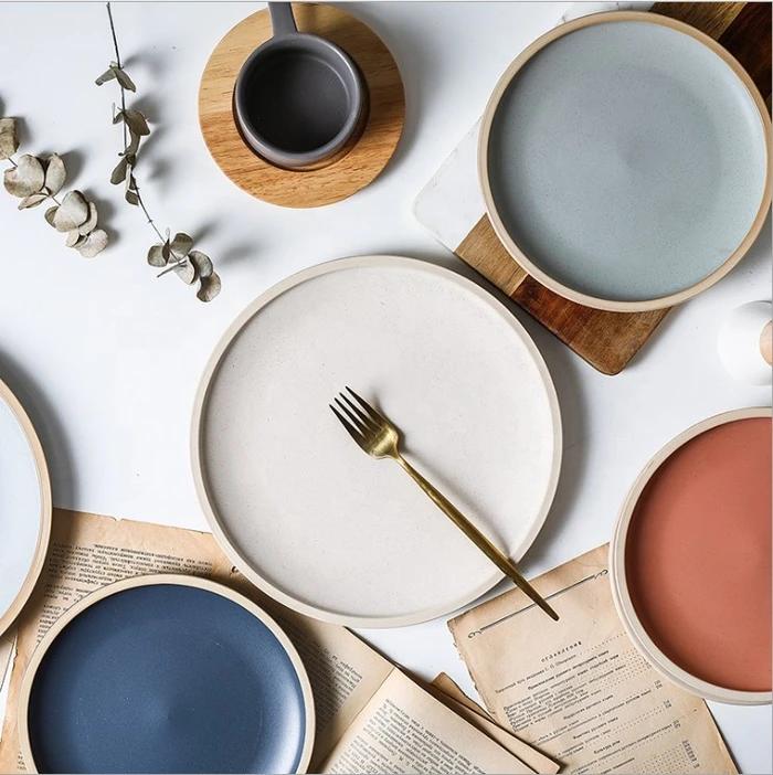 Kane 10 In 2020 Dinner Plates Natural Dinner Plates Modern Dinner Plates