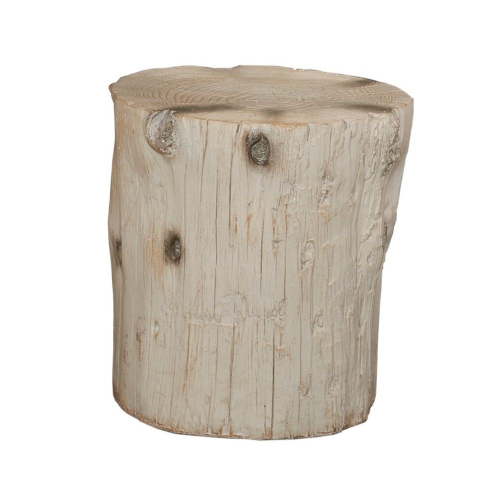 Superb Killian Faux Wood Accent Stool Ash Powell Company Grey Camellatalisay Diy Chair Ideas Camellatalisaycom
