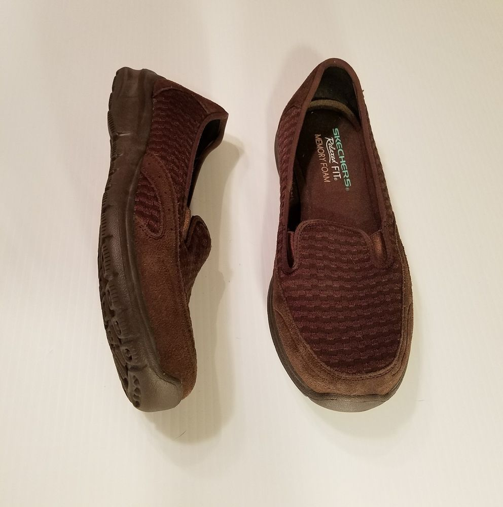 Skechers 49002 Relaxed Fit Memory Foam Slip Loafers Womens Size