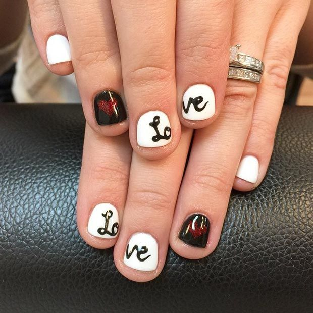 lovely valentine's day nails