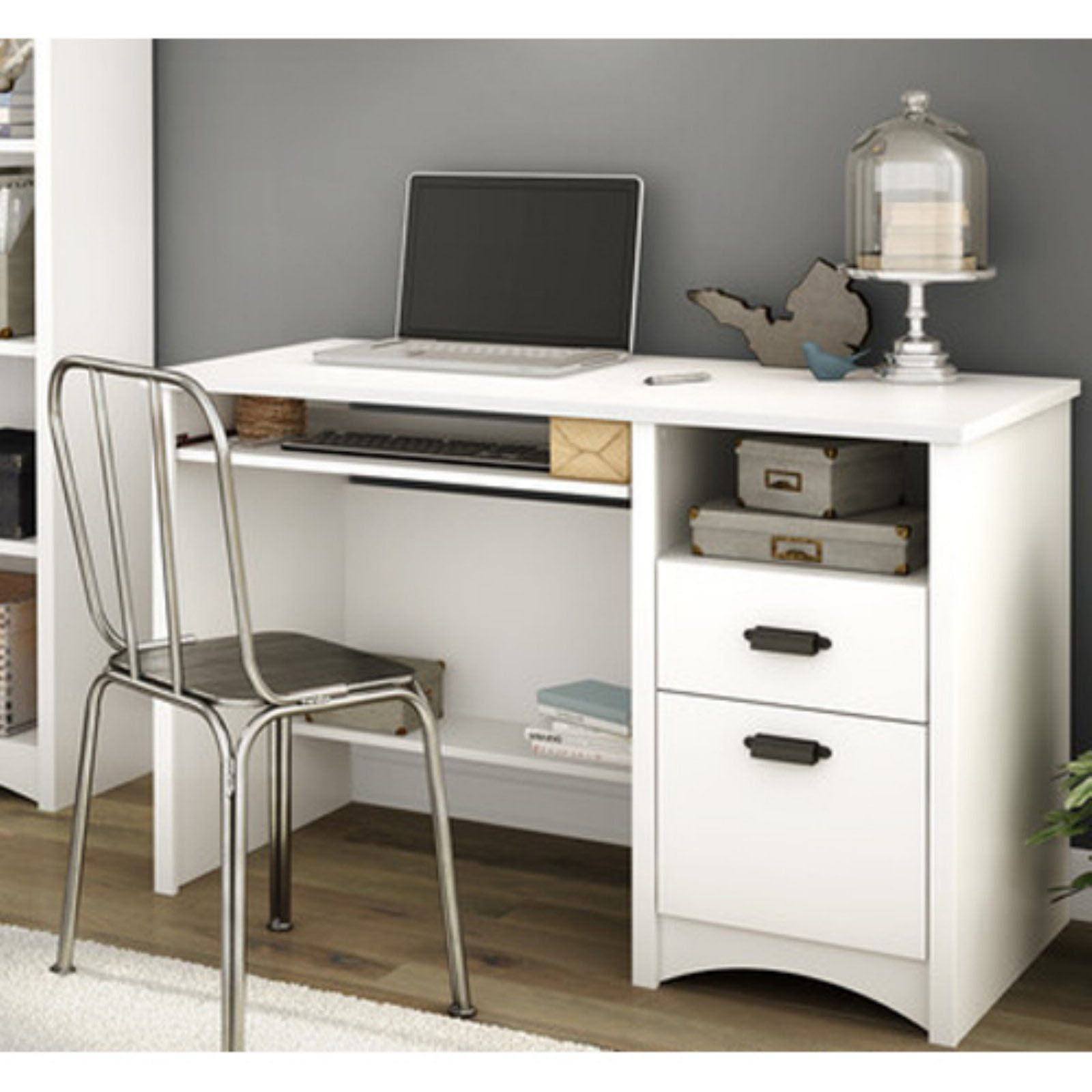 Desk Ideas Perfect For Small Spaces Desk With Keyboard Tray Modern Computer Desk Computer Desk