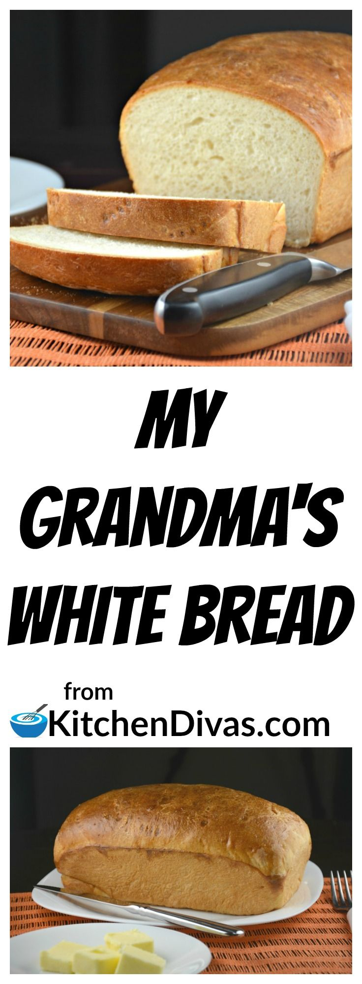 We rarely eat white bread anymore. Every once and a while though, when I am thinking about my grandmother, I have to make a loaf of this bread. I almost need to smell it baking in the house. This is an old recipe but a fabulous one! Works beautifully, every time.