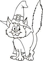 Halloween Cat Coloring Page From Our October Theme