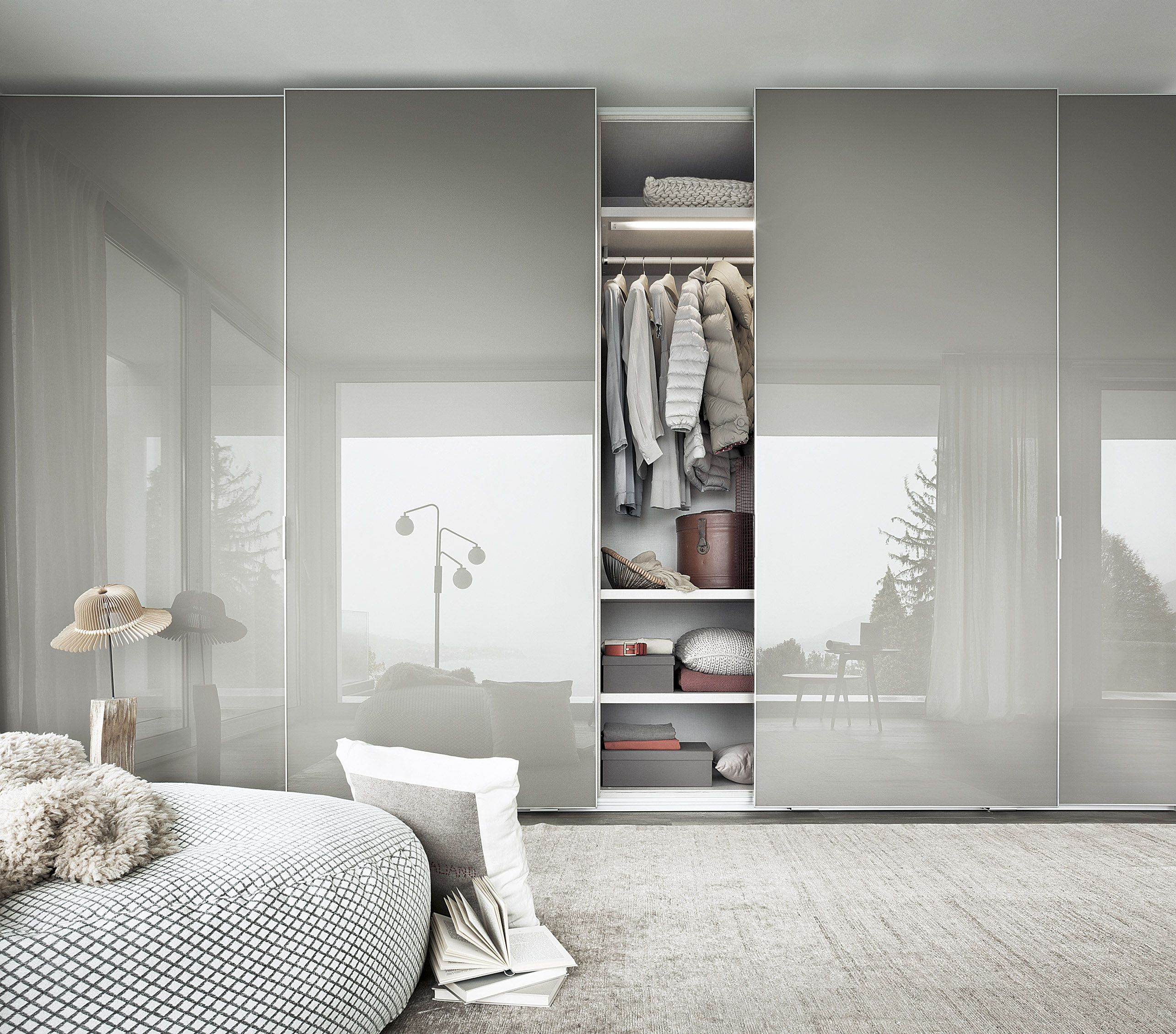 Sliding door wardrobe from italian design brand lema high gloss lema fina sliding door wardrobe modern sliding door wardrobe with glossy aluminium frame from top italian manufacturer of furniture and storage lema eventelaan Gallery