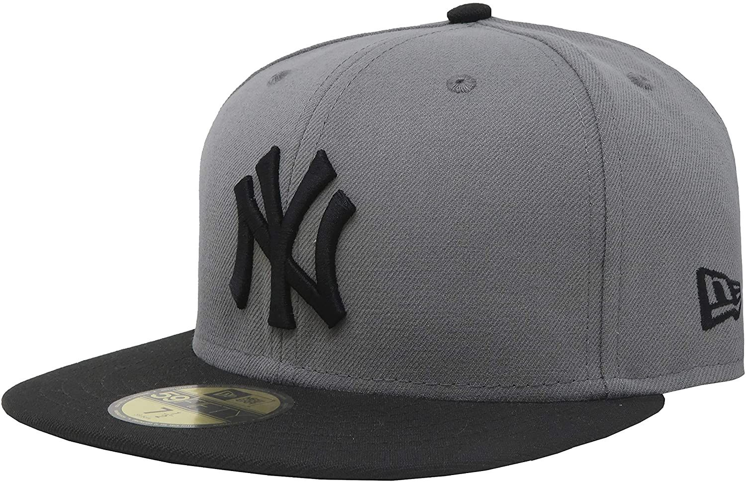 New Era 59fifty Hat New York Yankees Mlb Basic Storm Gray Black Fitted Cap In 2020 New Era 59fifty 59fifty Hats New Era