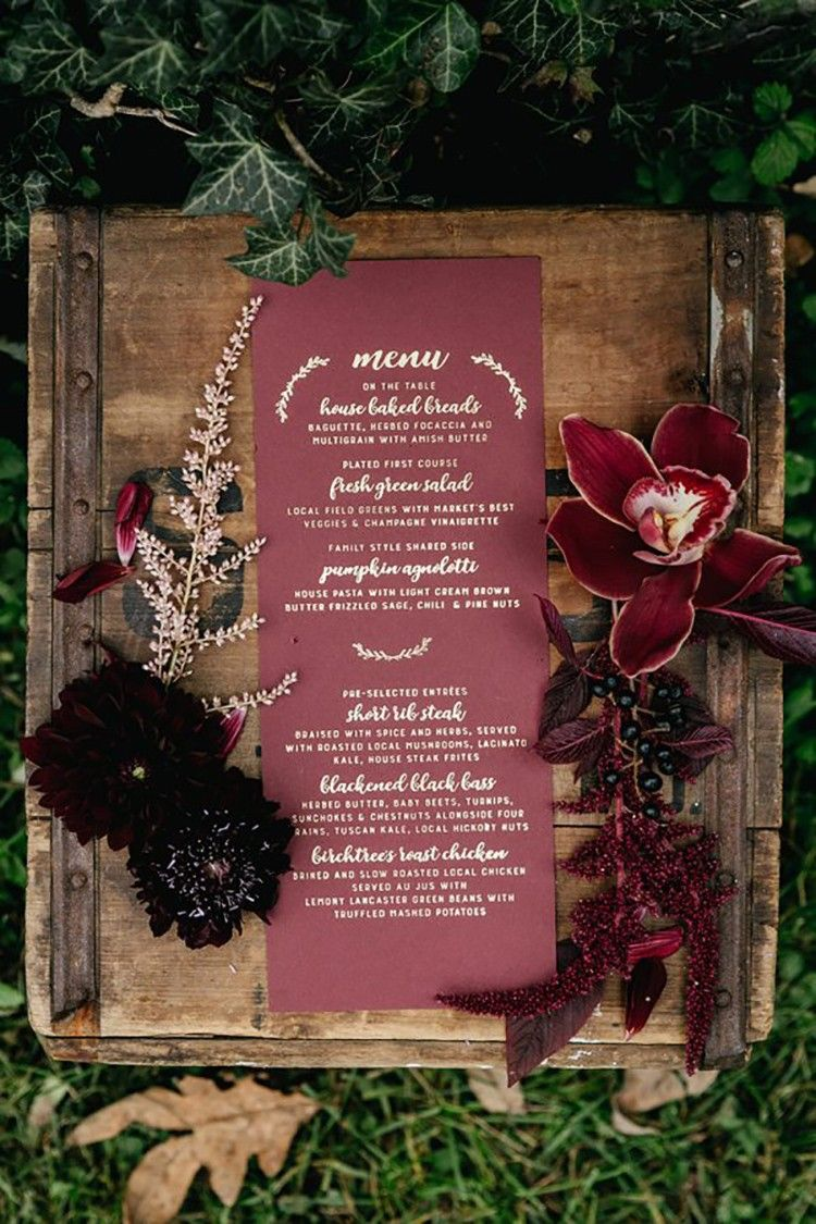 BURGUNDY WEDDING ideas para bodas, On top, weddings - Macarena Gea ...