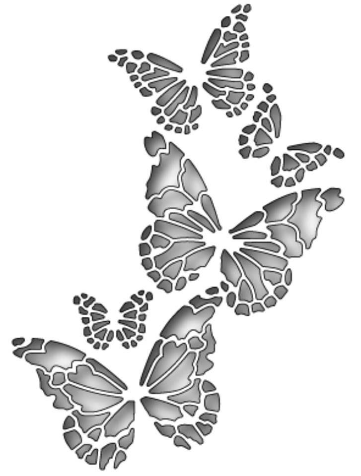 Открытка с трафаретом бабочки