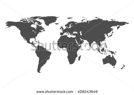 Blank grey similar world map isolated on white background blank grey similar world map isolated on white background monochrome worldmap vector template for website gumiabroncs Choice Image