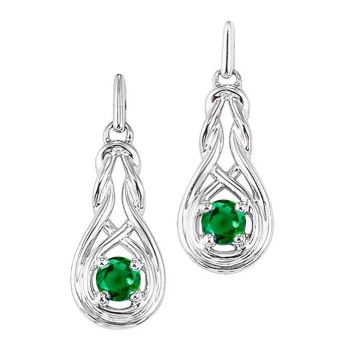 Warren Hannon Jeweler :: Emerald Earrings | Silver Emerald Earrings